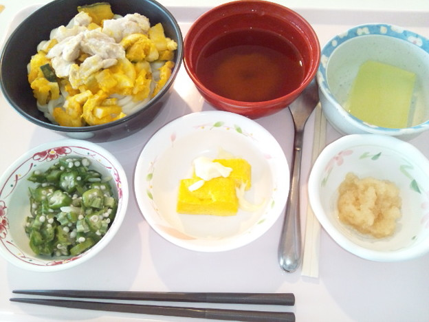 4月14日昼食(ほうとう風うどん) #病院食