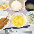 4月14日夕食(いわしフライ) #病院食