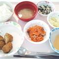 4月15日昼食(ピーマン肉詰めのフライ) #病院食