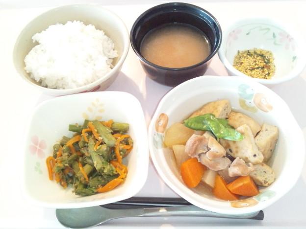 4月16日朝食(がんもの煮物) #病院食