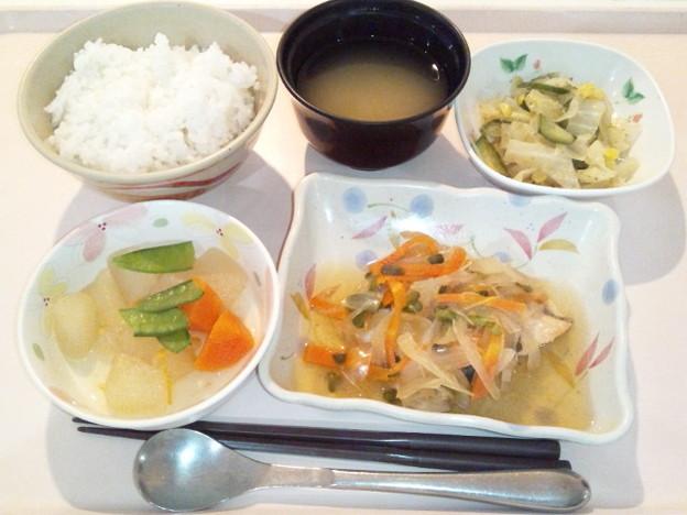 4月16日夕食(鮭の焼き南蛮漬け) #病院食