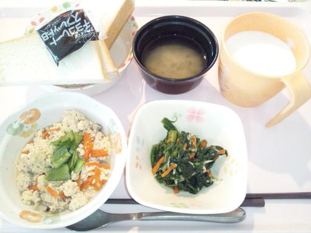 4月17日朝食(炒り豆腐) #病院食