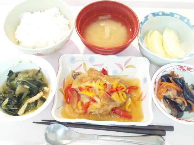 4月17日昼食(めだいの野菜あんかけ) #病院食
