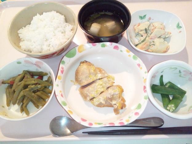 4月17日夕食(鶏の塩麹焼き) #病院食