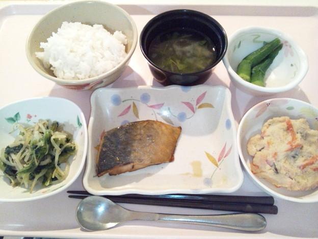 4月18日夕食(鯵の山椒焼き) #病院食