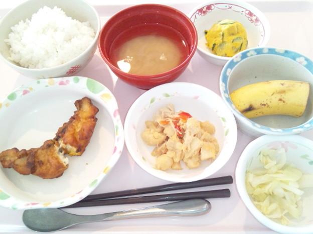 4月19日昼食(白身魚のカレーチーズ焼き) #病院食