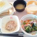 4月21日朝食(ソーセージ入り野菜炒め) #病院食