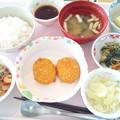 4月21日昼食(コーンクリームコロッケ) #病院食