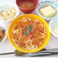 4月22日昼食(ミートソーススパゲッティ) #病院食
