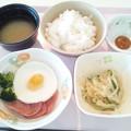 4月23日朝食(ハムエッグ) #病院食