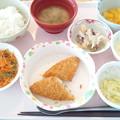 4月23日昼食(白身魚フライタルタル添え) #病院食