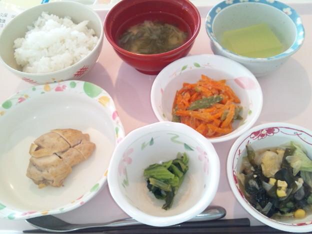 5月6日昼食(鶏の梅焼き) #病院食