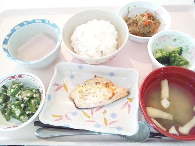 5月10日昼食(鮭のマスタード焼き) #病院食