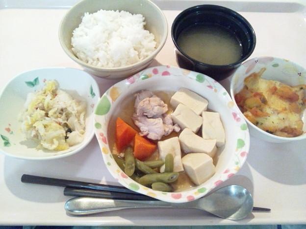 5月10日夕食(鶏肉と高野豆腐の含め煮) #病院食