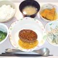 5月17日夕食(ハンバーグ胡麻あんかけ)