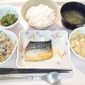 6月13日夕食(鯖のピリ辛焼き) #病院食