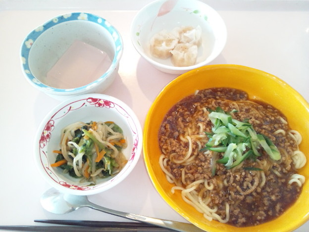 6月24日昼食(ジャージャー麺) #病院食