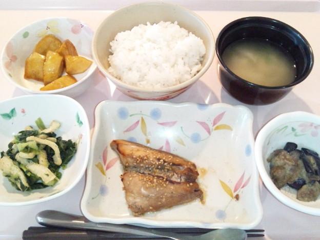7月30日夕食(鯵の南部焼き) #病院食