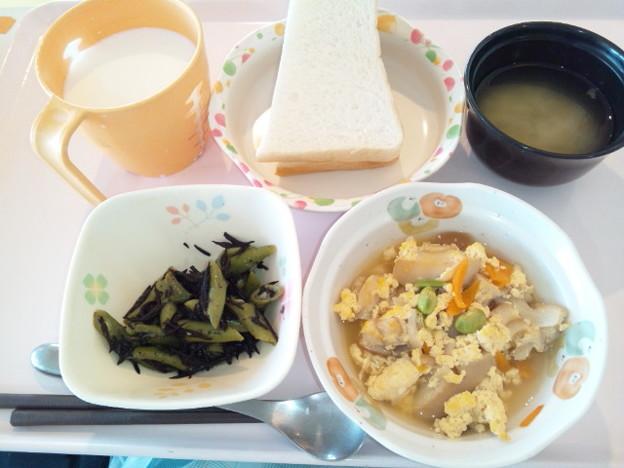 7月31日朝食(車麩の玉子とじ) #病院食