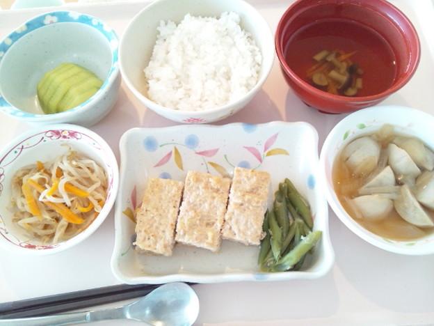 8月1日昼食(松風焼き) #病院食