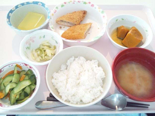 8月2日昼食(白身魚フライ) #病院食
