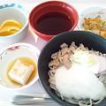 Photos: 9月16日昼食(とろろそば) #病院食