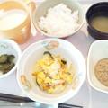 9月17日朝食(玉子と野菜の炒め物) #病院食