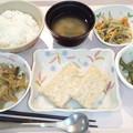 9月17日夕食(松風焼き) #病院食