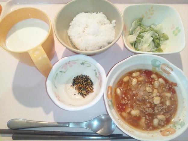 Photos: 9月18日朝食(チリコンカン) #病院食