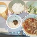 9月18日朝食(チリコンカン) #病院食