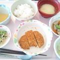 Photos: 9月19日昼食(とんかつ) #病院食