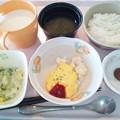Photos: 9月20日朝食(スクランブルエッグ) #病院食