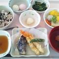 9月20日昼食(天ぷら盛り合わせ・敬老の日イベント食) #病院食
