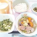 9月21日朝食(ウインナーとさつま芋のコンソメ煮) #病院食
