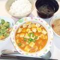 9月21日夕食(海老と豆腐のチリソース) #病院食
