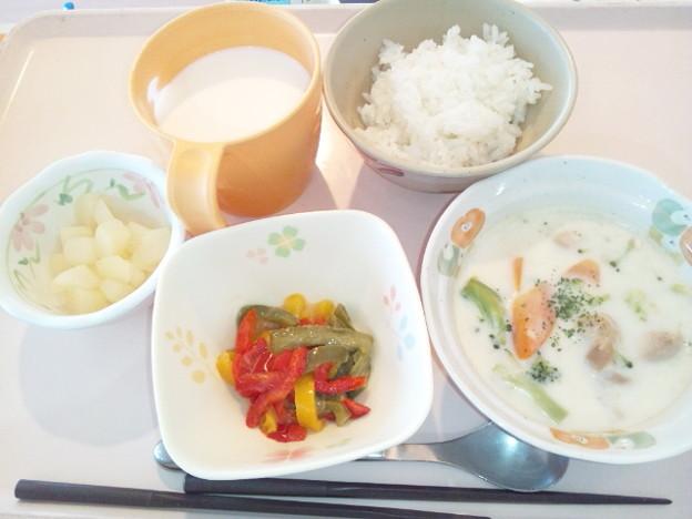 9月22日朝食(鶏のクリーム煮) #病院食