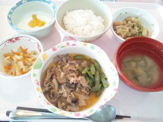 9月22日昼食(豚肉のしぐれ煮) #病院食