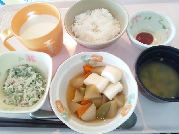 9月23日朝食(はんぺんの煮物) #病院食