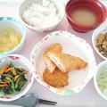 9月23日昼食(白身魚フライ&コロッケ) #病院食