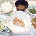 9月23日夕食(鶏肉の味噌焼き) #病院食