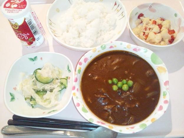 9月24日夕食(ビーフハヤシライス) #病院食