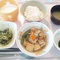 Photos: 9月25日朝食(生揚げの煮付け) #病院食