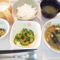 9月26日朝食(鶏と青梗菜の煮物) #病院食