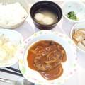 Photos: 9月26日夕食(ハンバーグ) #病院食