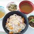 Photos: 9月27日昼食(カレーうどん) #病院食