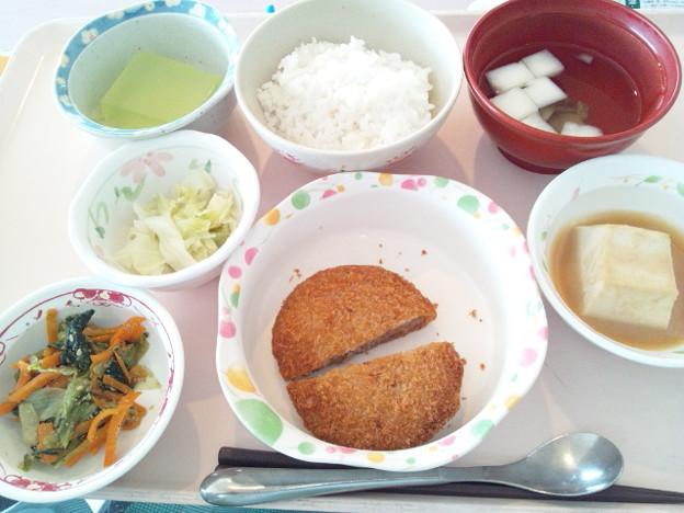 Photos: 9月28日昼食(メンチカツ) #病院食
