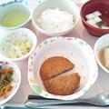 9月28日昼食(メンチカツ) #病院食
