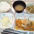 9月28日夕食(鯵の野菜あんかけ) #病院食