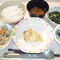 Photos: 9月29日夕食(鶏肉のチーズ焼き) #病院食