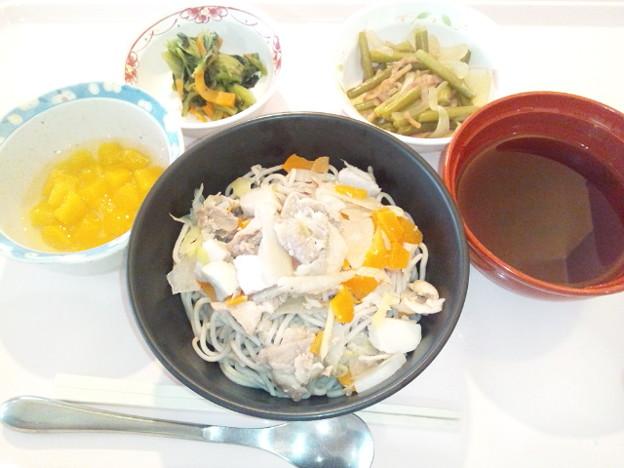 10月12日昼食(けんちんそば) #病院食